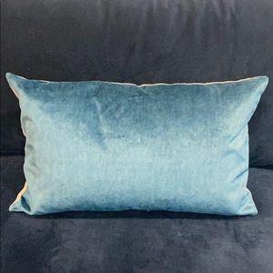 Williams Sonoma Velvet Cyan Pillow